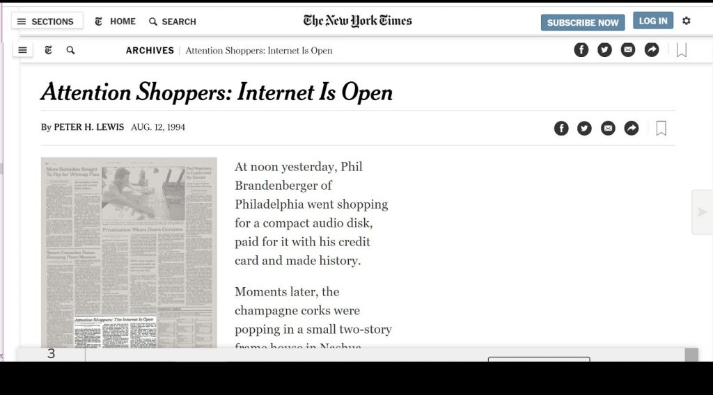 New york times ecommerce