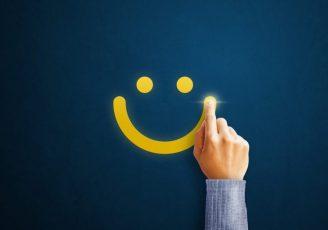 CUSTOMER SMILING